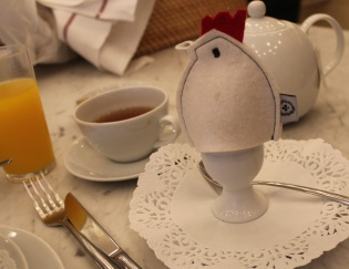 Whimsical boiled egg